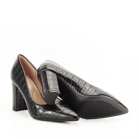 Pantofi negri cu imprimeu Dalma 2 [7]