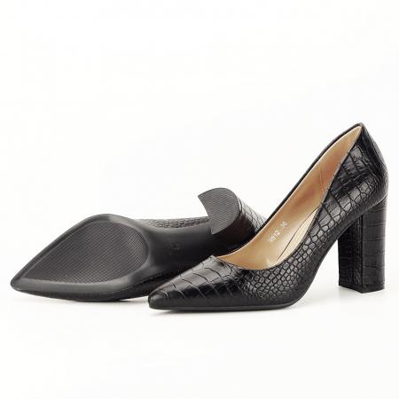 Pantofi negri cu imprimeu Dalma [6]