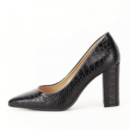 Pantofi negri cu imprimeu Dalma [0]