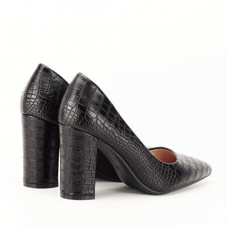 Pantofi negri cu imprimeu Dalma [2]
