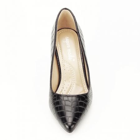Pantofi negri cu imprimeu Dalma [4]