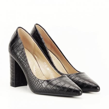 Pantofi negri cu imprimeu Dalma [7]