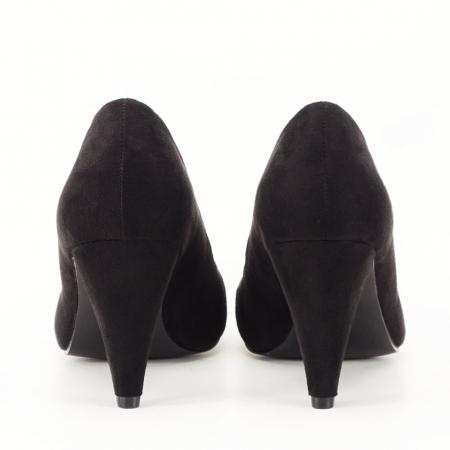 Pantofi negri cu toc conic Dion2