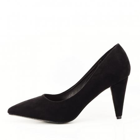 Pantofi negri cu toc conic Dion0