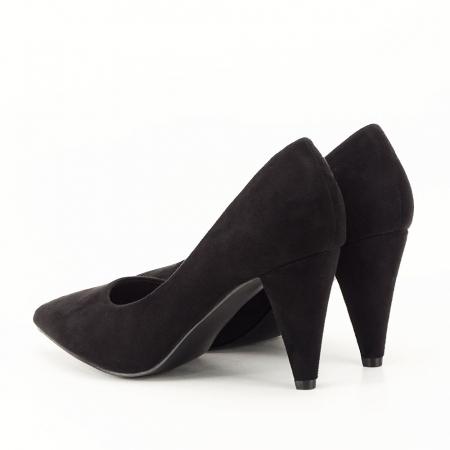 Pantofi negri cu toc conic Dion7