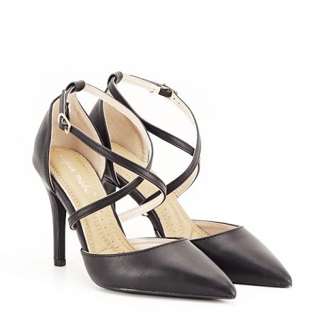 Pantofi negri cu toc cui Zoe [2]