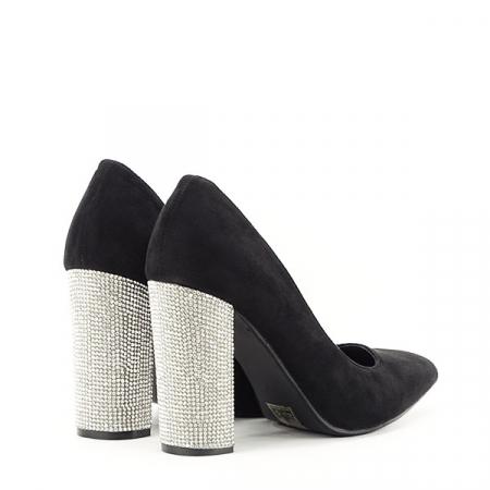 Pantofi negri cu toc Debbie4