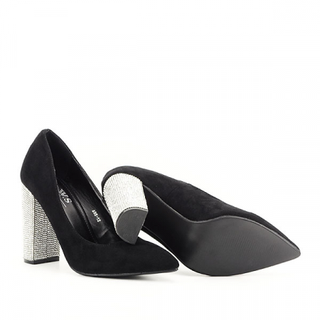Pantofi negri cu toc Debbie6