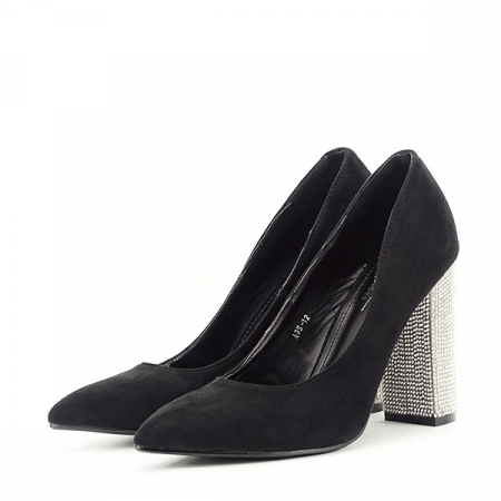 Pantofi negri cu toc Debbie1