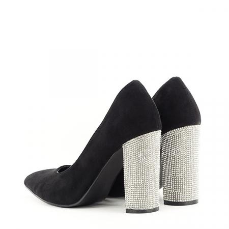 Pantofi negri cu toc Debbie3