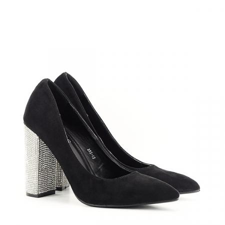 Pantofi negri cu toc Debbie2