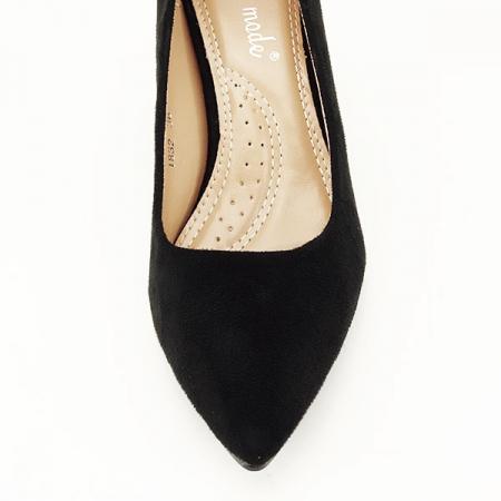 Pantofi negri cu toc gros Adelina6
