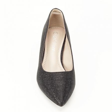 Pantofi negri cu toc gros Aura [4]