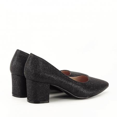 Pantofi negri cu toc gros Aura [2]