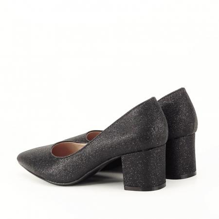 Pantofi negri cu toc gros Aura [6]
