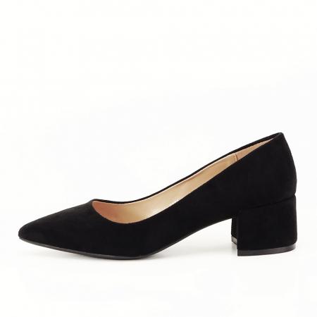 Pantofi negri cu toc mic Carla [0]