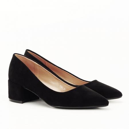 Pantofi negri cu toc mic Carla [5]