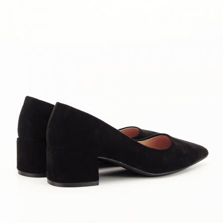 Pantofi negri cu toc mic Carla [2]