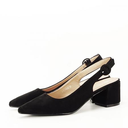 Pantofi negri cu toc mic Simina [1]