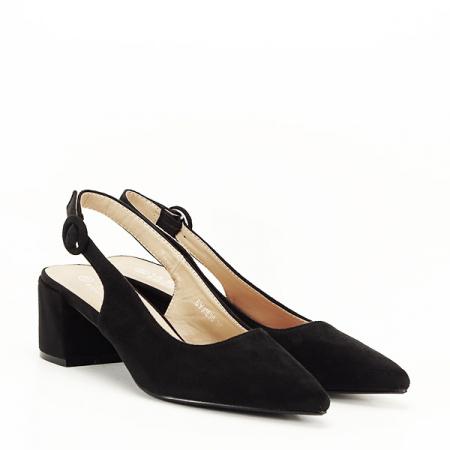 Pantofi negri cu toc mic Simina [2]
