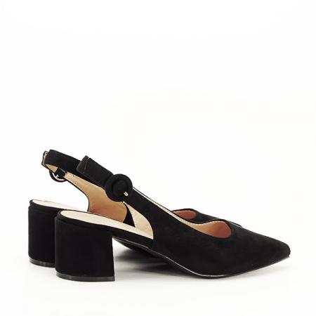Pantofi negri cu toc mic Simina [4]