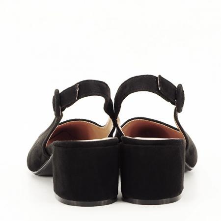 Pantofi negri cu toc mic Simina [5]