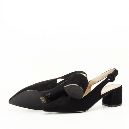 Pantofi negri cu toc mic Simina [7]