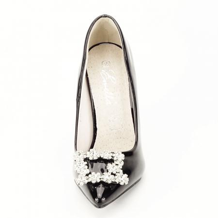 Pantofi negri de lac Sandra7