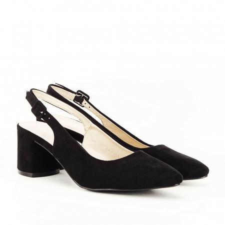 Pantofi negri decupati Cassie5