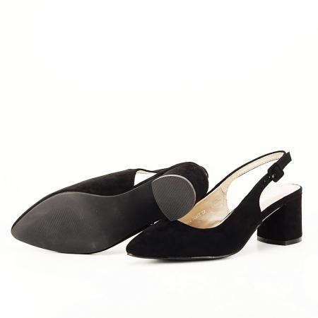 Pantofi negri decupati Cassie4