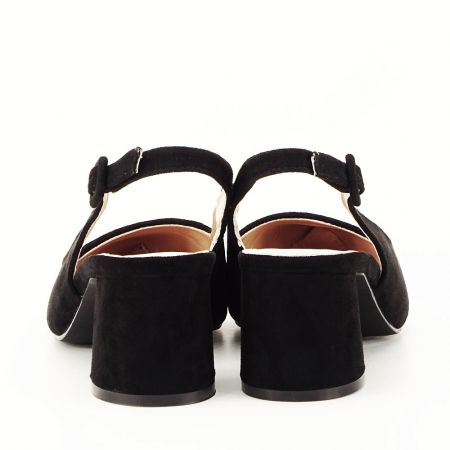 Pantofi negri decupati Cassie3