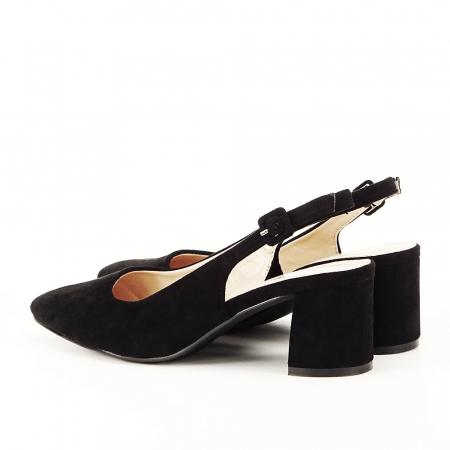 Pantofi negri decupati Cassie6