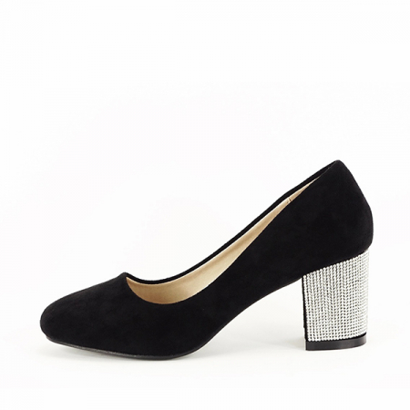 Pantofi negri eleganti cu toc comod Brenda [0]