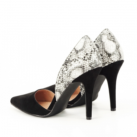 Pantofi negri decupati lateral Lori [4]