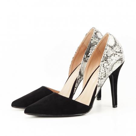 Pantofi negri decupati lateral Lori [1]