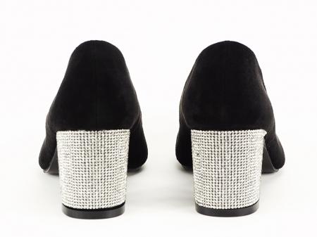 Pantofi negri eleganti cu toc comod Brenda [6]