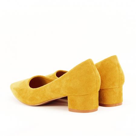 Pantofi galbeni cu toc mic Elisa [3]