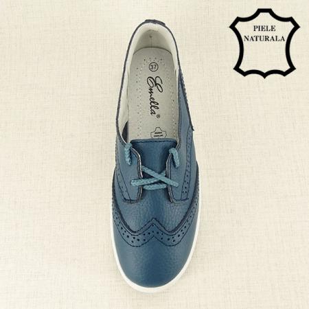 Pantofi oxford albastri Carla [1]