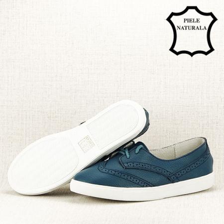 Pantofi oxford albastri Carla [6]