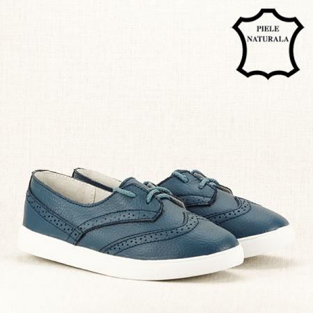 Pantofi oxford albastri Carla [3]