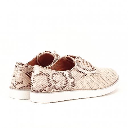 Pantofi oxford bej Patricia [6]