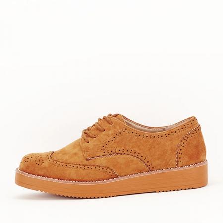 Pantofi oxford camel Dalia [0]