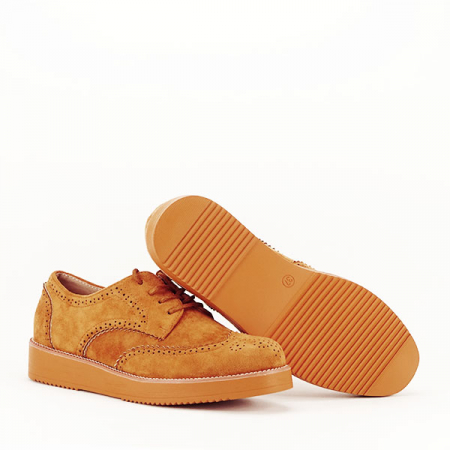 Pantofi oxford camel Dalia [7]