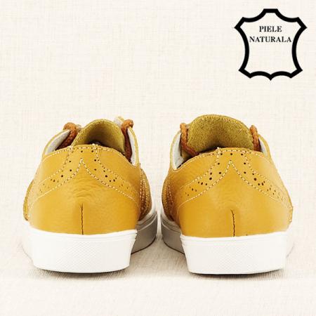 Pantofi oxford galbeni Carla6