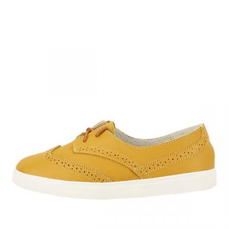 Pantofi oxford galbeni Carla0