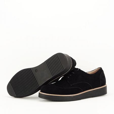 Pantofi oxford negri Dalia7