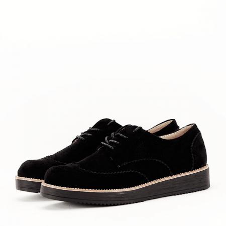 Pantofi oxford negri Dalia3