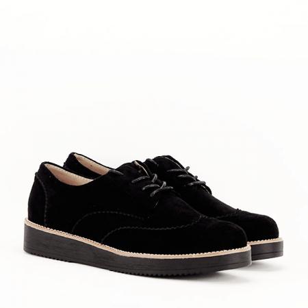 Pantofi oxford negri Dalia2