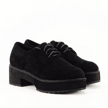 Pantofi oxford negri Miruna [5]