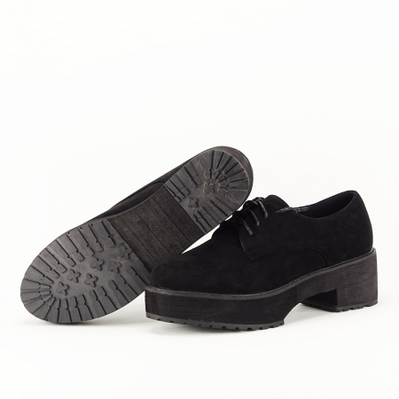Pantofi oxford negri Miruna [7]